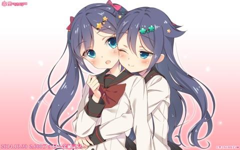 动漫女孩可爱萝莉双胞胎