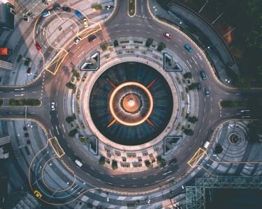 新加坡城市鸟瞰图