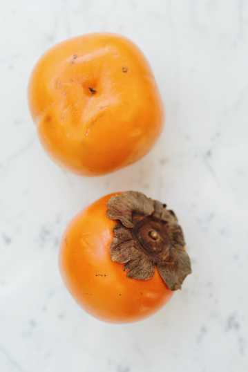 橙色柿子图片