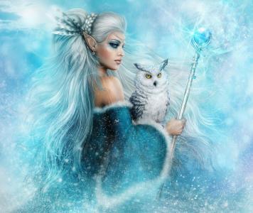 冬季精灵女王5K视网膜超高清壁纸和背景图片