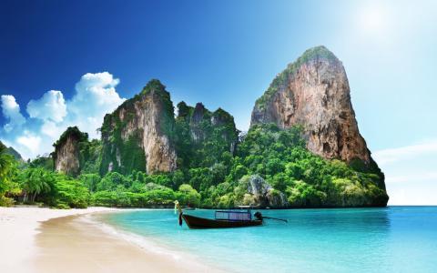 莱利海滩泰国4k超高清壁纸和背景
