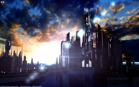 亚特兰提斯日落4k超高清壁纸和背景