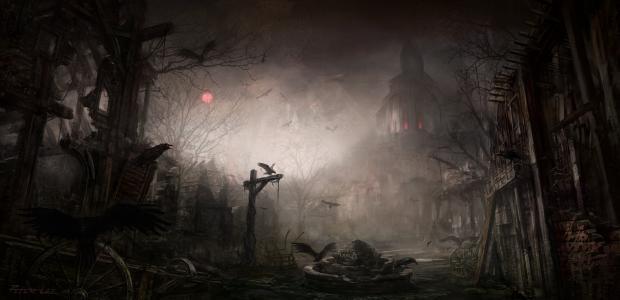 在恶魔寺5k视网膜超高清壁纸和背景图像的阴影