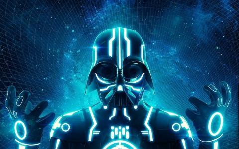 http://society6.com/dracorubio/Tron-Vader_Print壁纸和背景