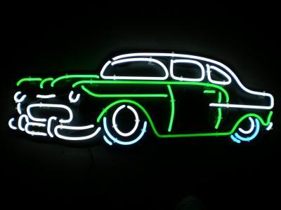 霓虹灯壁纸和背景