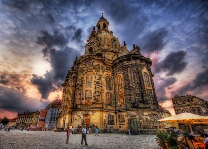 德累斯顿Frauenkirche全高清壁纸和背景