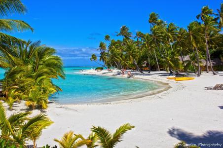 在波拉波拉岛4k超高清壁纸和背景的海滩