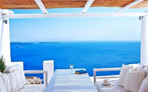 热带[24] katikies酒店圣托里尼[2015年6月29日星期一] [223919] [VersionOne] [1920x1200]全高清壁纸和背景