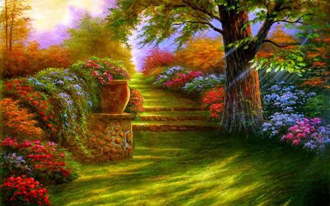 花园壁纸和背景图像