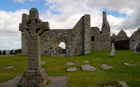 Clonmacnoise修道院全高清壁纸和背景
