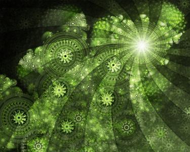 绿色的墙纸和背景