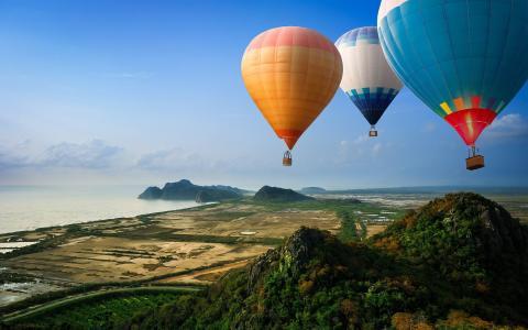 浪漫的热气球旅行