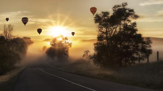 清晨在雾气弥漫的5k Retina超高清壁纸和背景