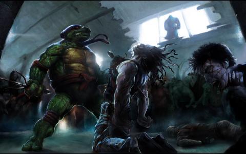 忍者神龟全高清壁纸和背景