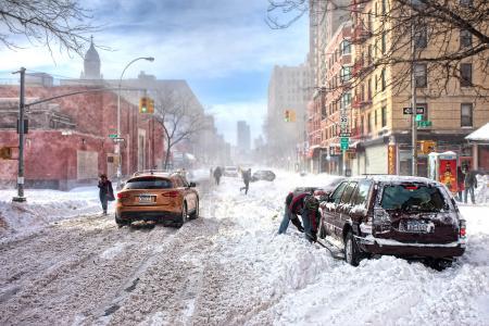 暴雪在城市5k视网膜超高清壁纸和背景
