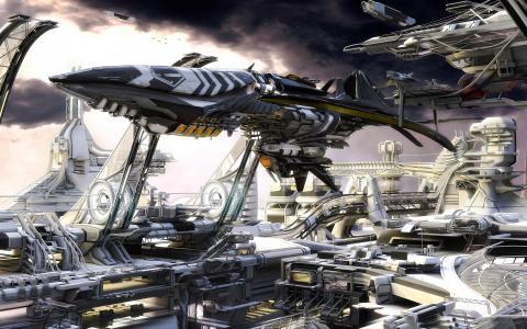 太空港全高清壁纸和背景
