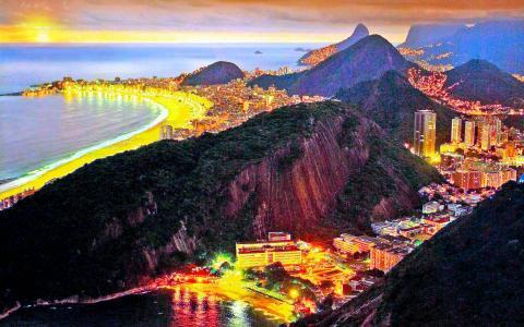 日落[15]暮光之城地平线[2014年11月6日星期四] [13526] [VersionOne]丰富多彩的里约热内卢全高清壁纸和背景