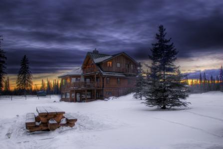 冬季房子4k超高清壁纸和背景图像