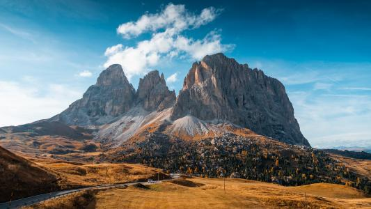 壮丽的意大利白云岩