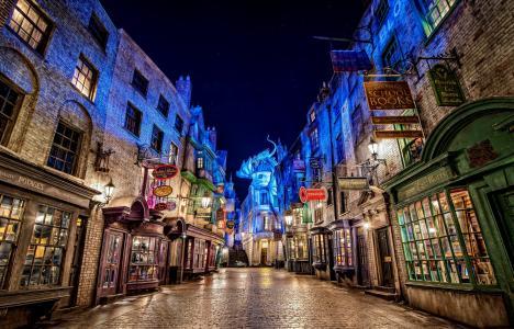 环球影城全高清壁纸和背景图像中的哈利波特对角巷