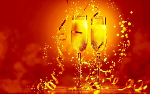 NEWYEAR [02] 2014-toast [29december2013sunday] [VersionOne] Full HD Wallpaper and Backgrou