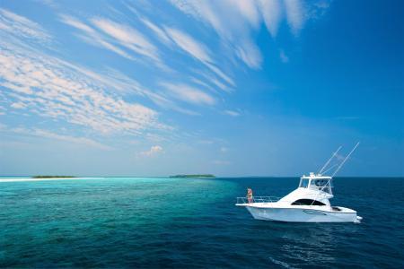 游艇上熱帶海4k超高清壁紙和背景圖像