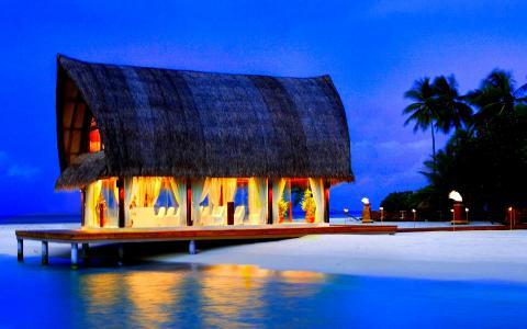 热带[04]婚礼教堂的天堂风格[014533] [2013年10月12日星期六]马尔代夫全高清壁纸和背景