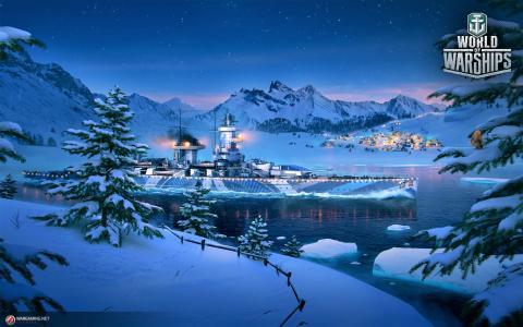 船在冬季湖全高清壁纸和背景图像