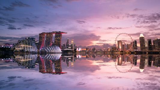 新加坡黄昏迷人风光
