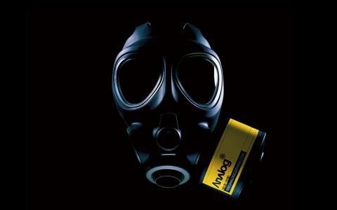 防毒面具墙纸和背景